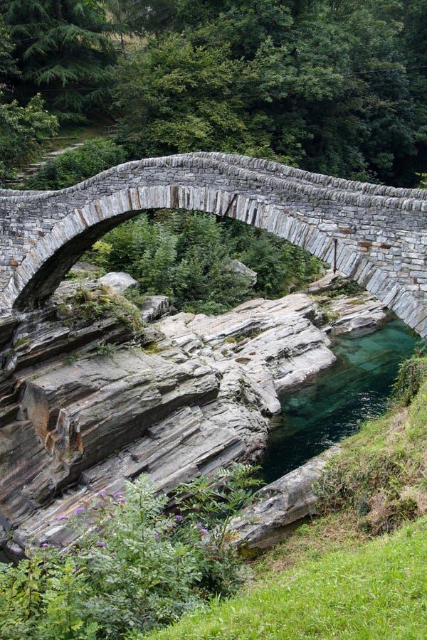 De oude brug van de boogsteen royalty-vrije stock foto's