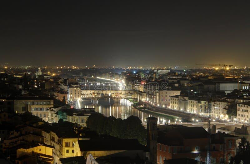 De oude brug van Florence stock foto's