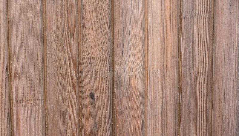 De oude bruine houten plankmuur of achtergrond van de bureautextuur stock fotografie