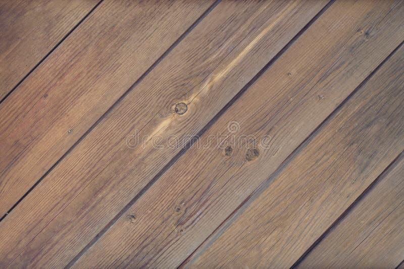 De oude bruine houten plankmuur of achtergrond van de bureautextuur stock foto