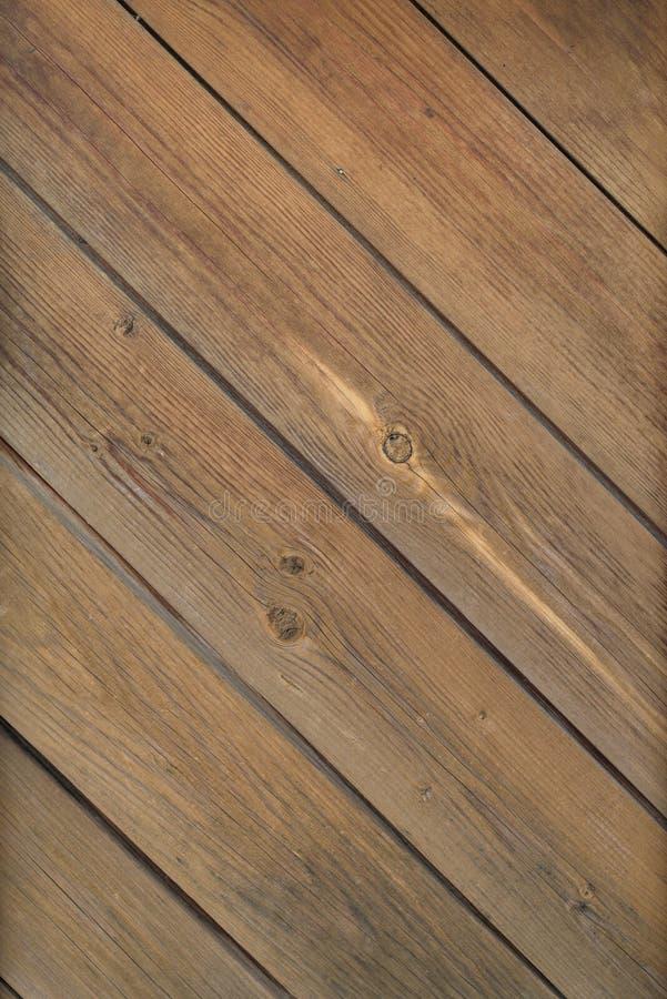 De oude bruine houten plankmuur of achtergrond van de bureautextuur royalty-vrije stock fotografie