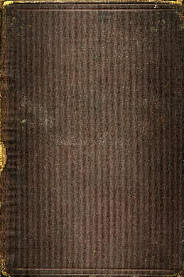 De oude Bruine textuur van het leerboek stock foto's