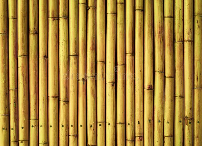De oude bruine textuur van de de plankomheining van het toonbamboe voor achtergrond stock afbeelding