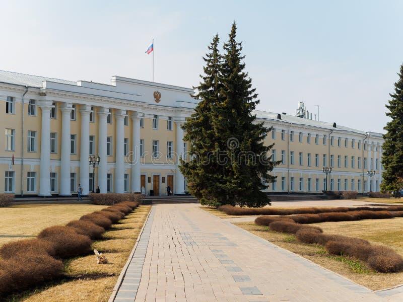 De oude bureaubouw van overheid in Nizhny Novgorod stock afbeelding