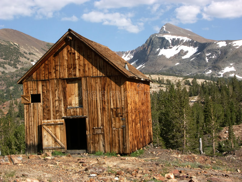 De oude Cabine van de Mijnbouw royalty-vrije stock foto's