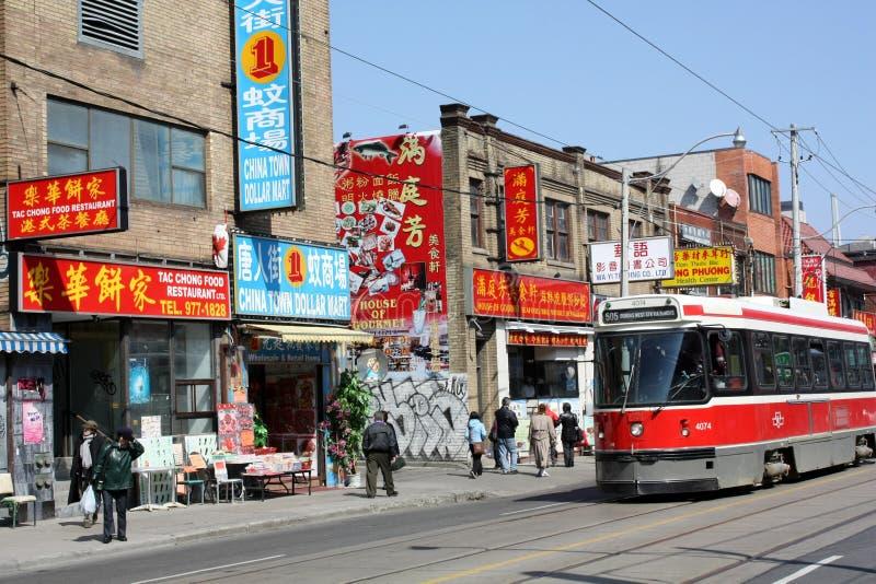 De oude Chinatown van Toronto stock afbeelding