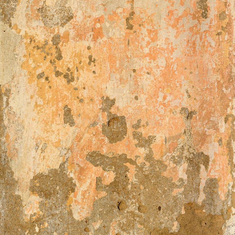 De oude Concrete Geschilderde Beige Textuur van de Pastelkleurmuur stock foto