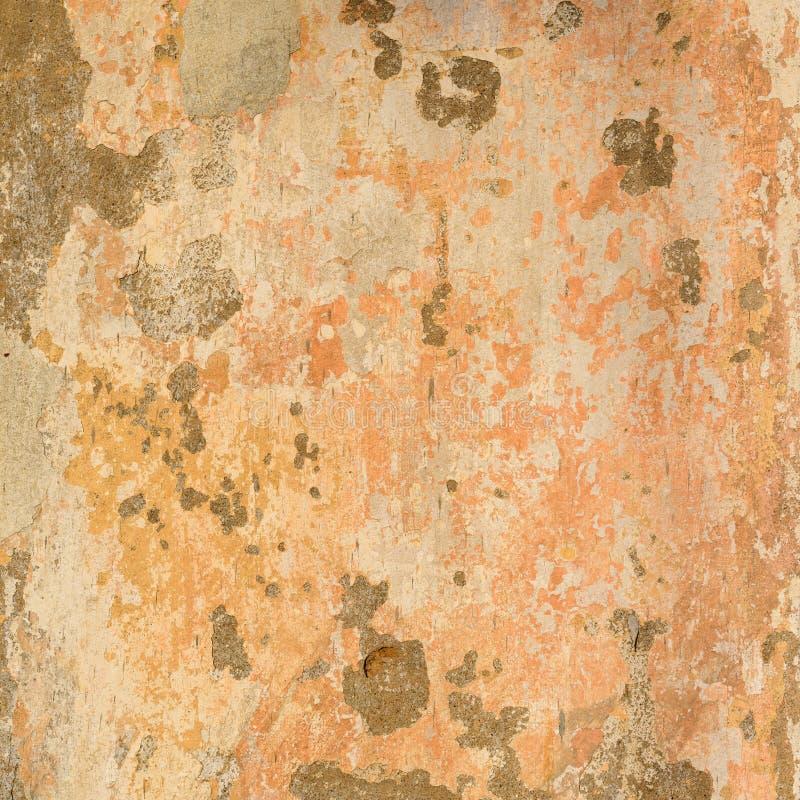 De oude Concrete Geschilderde Beige Textuur van de Pastelkleurmuur royalty-vrije stock afbeeldingen