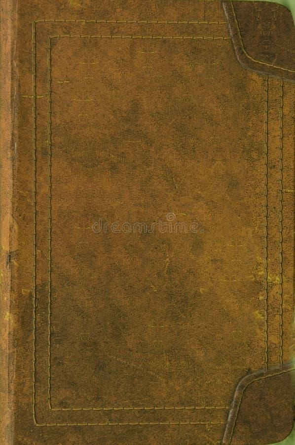 De oude dekking van het leerboek royalty-vrije stock foto's
