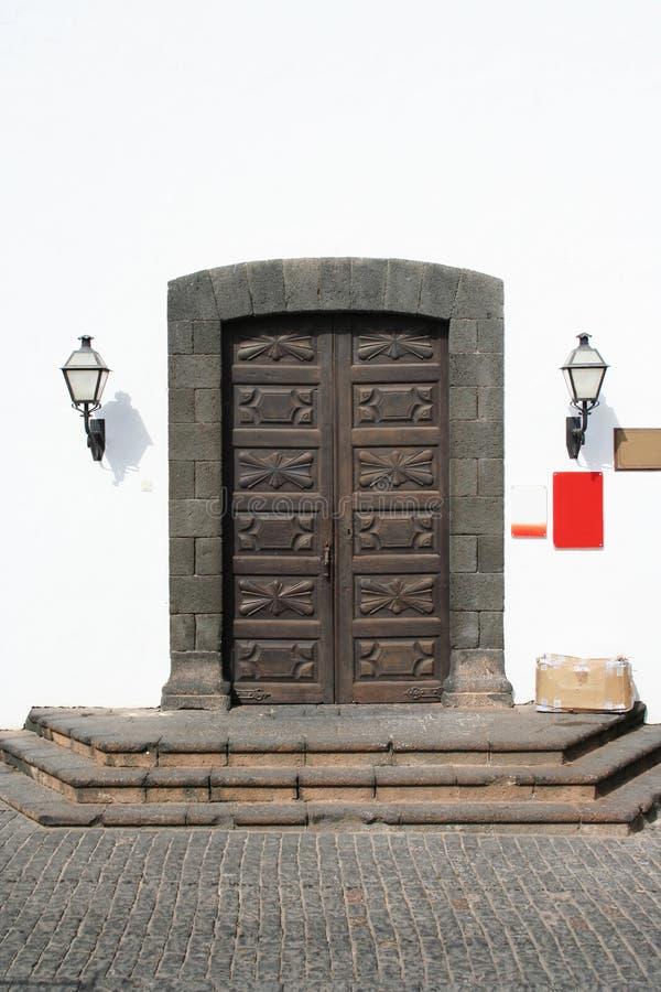 De oude Deuren van het Museum stock foto