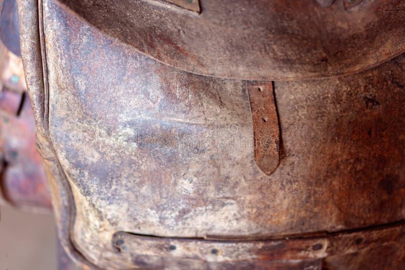 De oude die Zak van het Leerzadel eens door Cowboys wordt gebruikt stock afbeelding