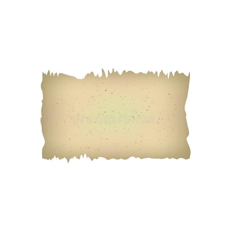 De oude document oude uitstekende antieke illustratie van het de pagina papersheet document van het papyrusmanuscript retro Achte stock illustratie