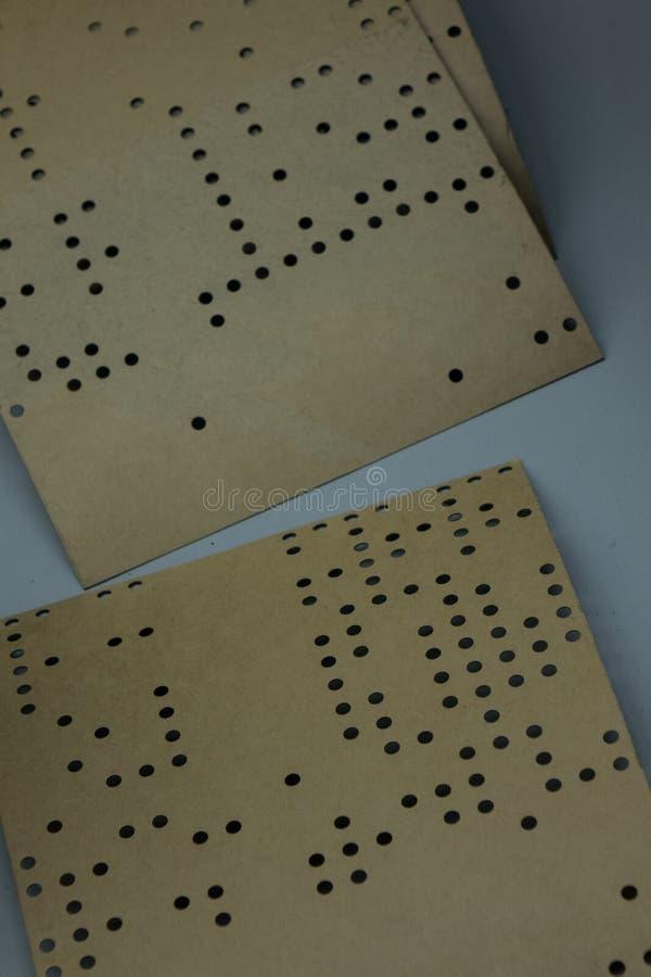 De oude en uitstekende stempel cardes van een computer royalty-vrije stock afbeelding