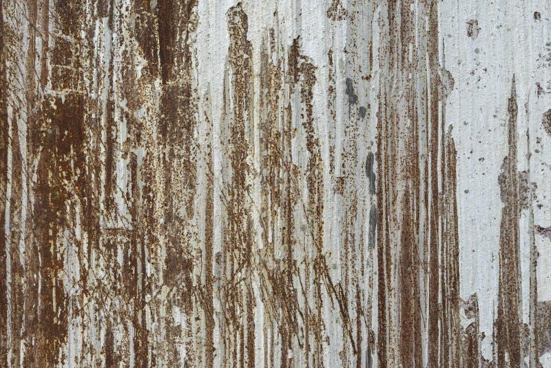 De oude foto van de de roesttextuur van het metaalijzer stock afbeelding