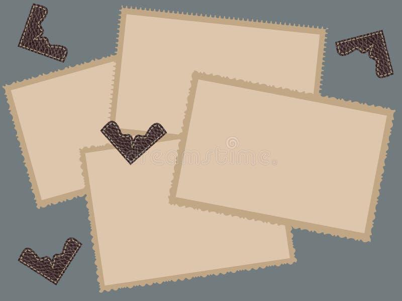 De oude Frames van de Foto vector illustratie