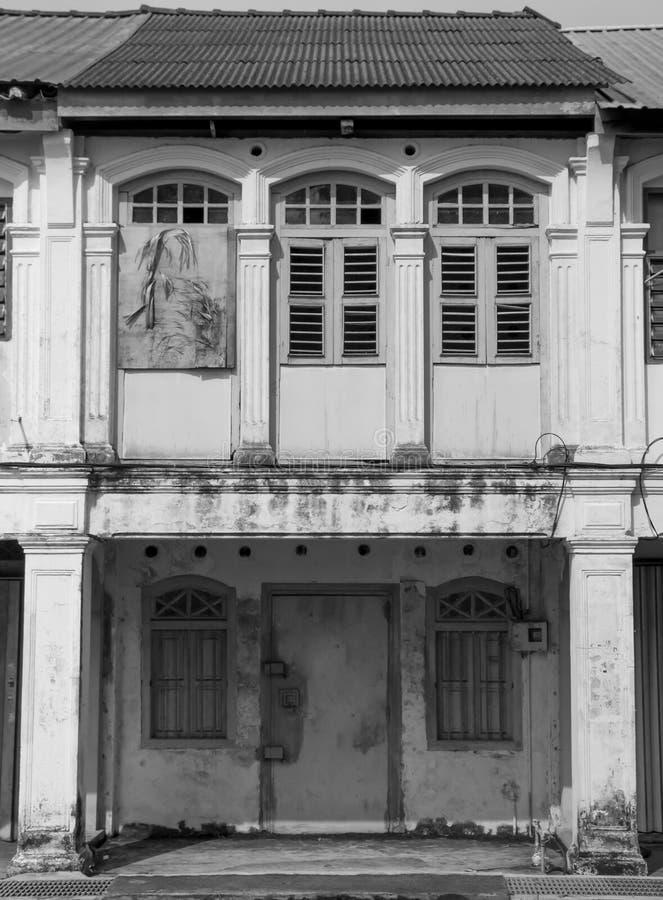 De oude Gebouwen van de Stadswinkel stock afbeelding