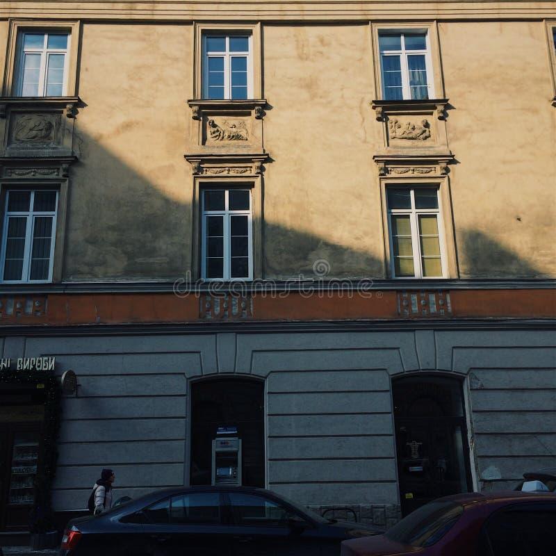 De oude gebouwen van stijlbarroco Lviv royalty-vrije stock foto