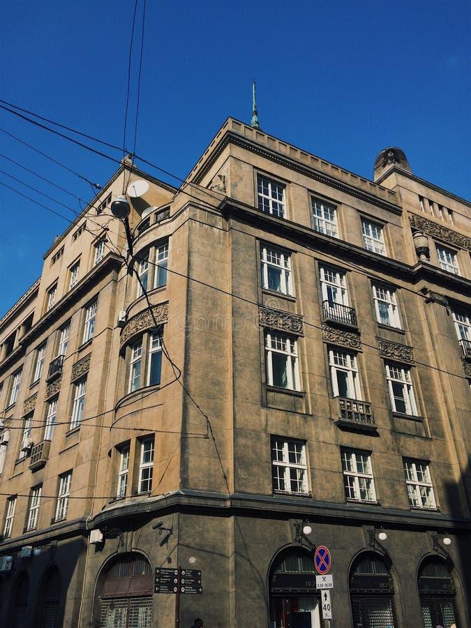 De oude gebouwen van stijlbarroco Lviv stock fotografie