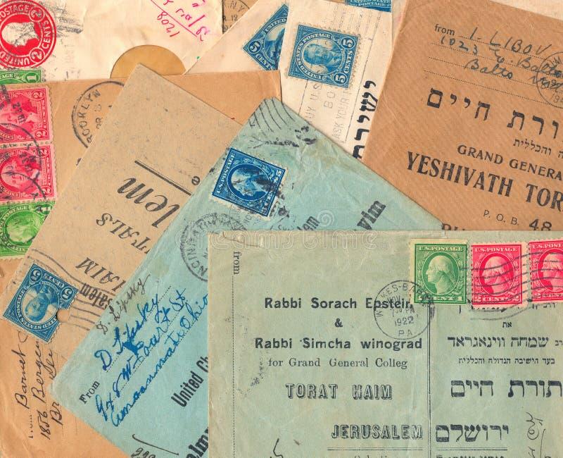 De oude gebruikte enveloppen van Verenigde Staten stock fotografie