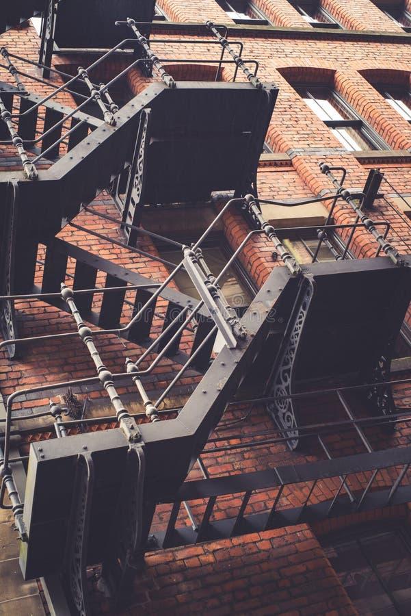 De oude Gereduceerde Verlaten oude bouw in Manchester royalty-vrije stock foto