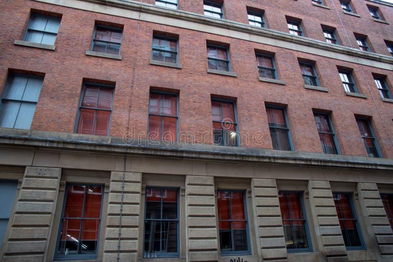 De oude Gereduceerde Verlaten oude bouw in Manchester royalty-vrije stock afbeeldingen