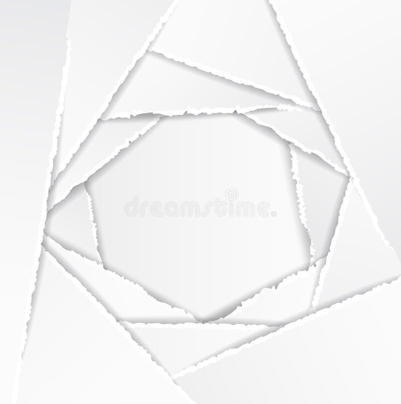 De oude Gescheurde Achtergrond van het Document Textuur royalty-vrije illustratie
