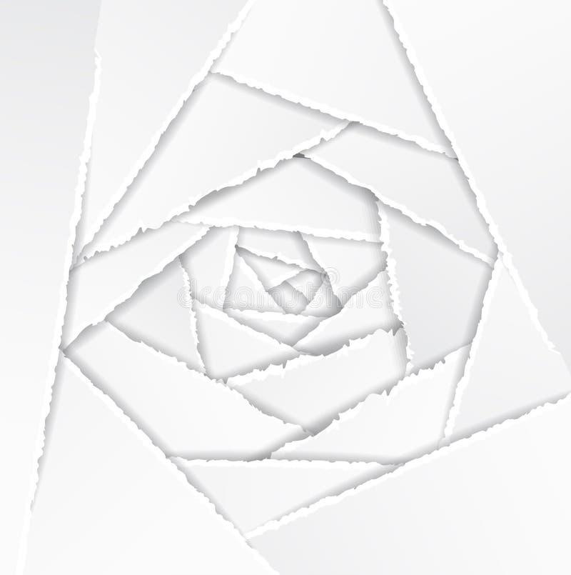 De oude Gescheurde Achtergrond van het Document Textuur stock illustratie