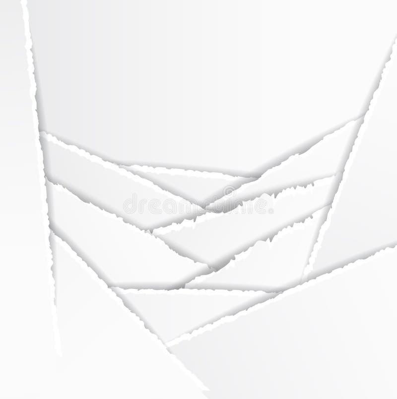 De oude Gescheurde Achtergrond van het Document Textuur vector illustratie