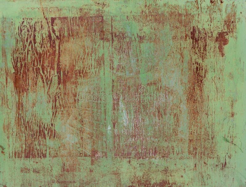 De oude geschilderde textuur van de metaalmuur stock afbeeldingen