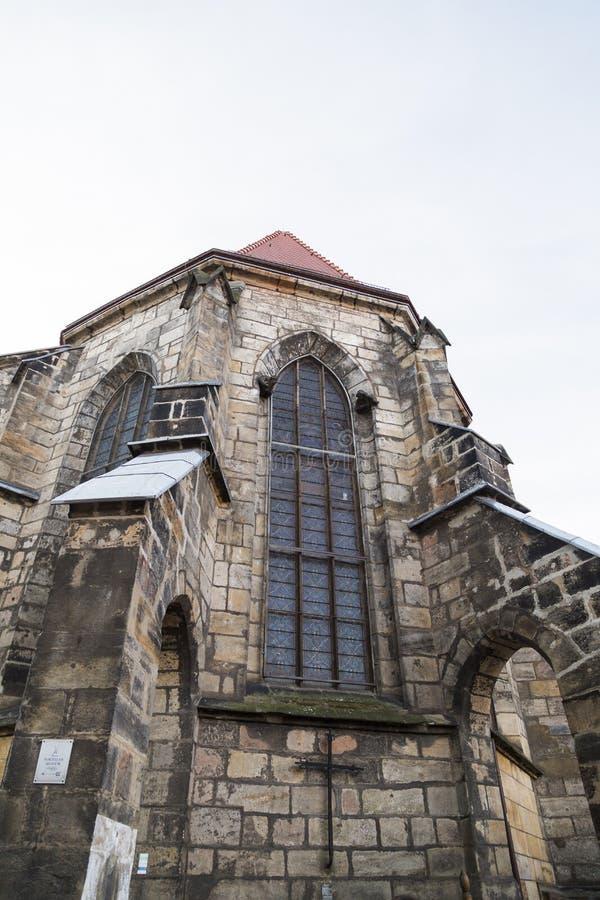 De oude gotische Duitse kerk of het kasteel van de baksteensteen stock fotografie