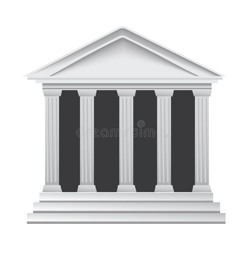 De oude Griekse historische bank van kolommen royalty-vrije illustratie