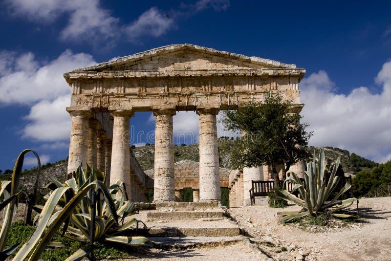De oude Griekse Ruïnes van de Tempel royalty-vrije stock fotografie