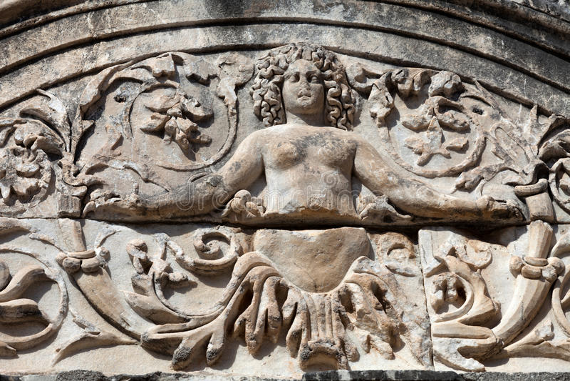 de oude Griekse stad Ephesus royalty-vrije stock foto's