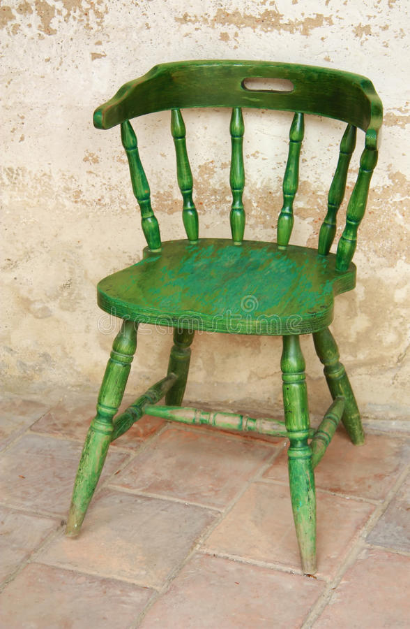 De oude groene stoel stock afbeelding afbeelding for Groene stoel
