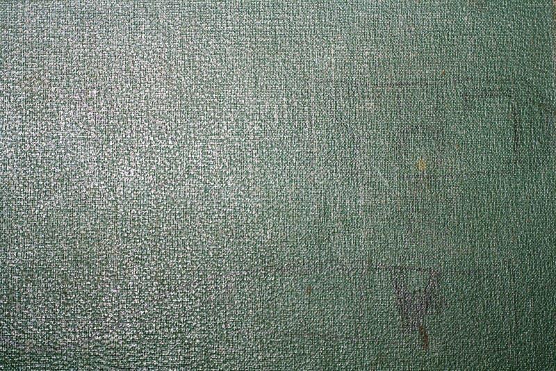 De oude groene textuur van de boekdekking royalty-vrije stock afbeeldingen