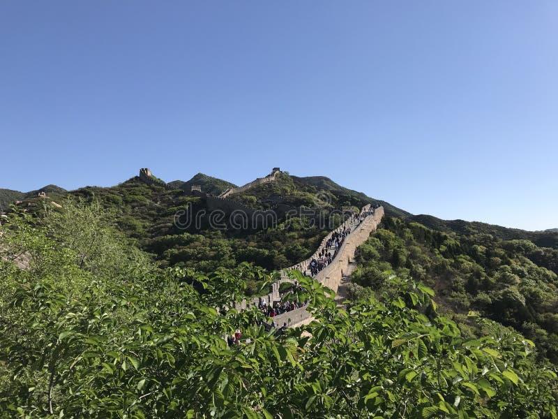 De oude Grote Muur van China - Bedelaars DA royalty-vrije stock afbeeldingen