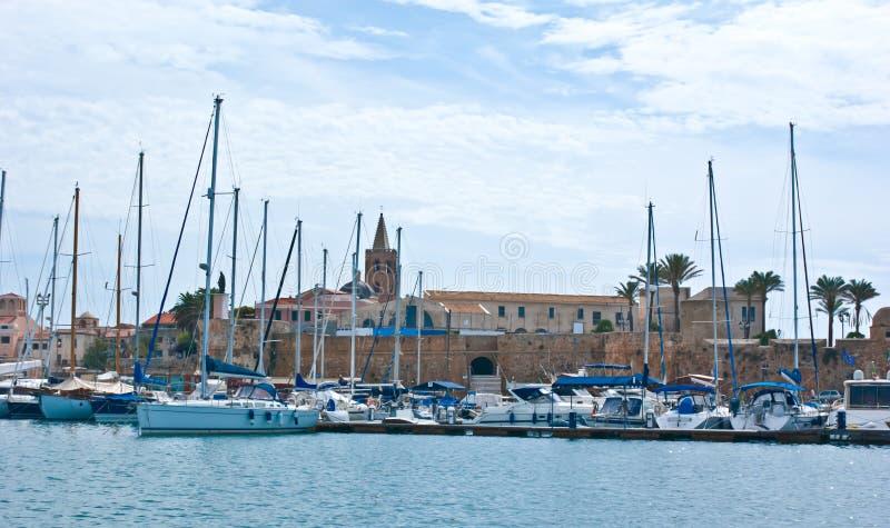 De haven van Alghero royalty-vrije stock afbeelding
