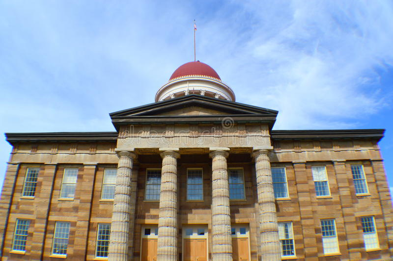De oude het Capitoolbouw van de Staat in Springfield royalty-vrije stock afbeelding