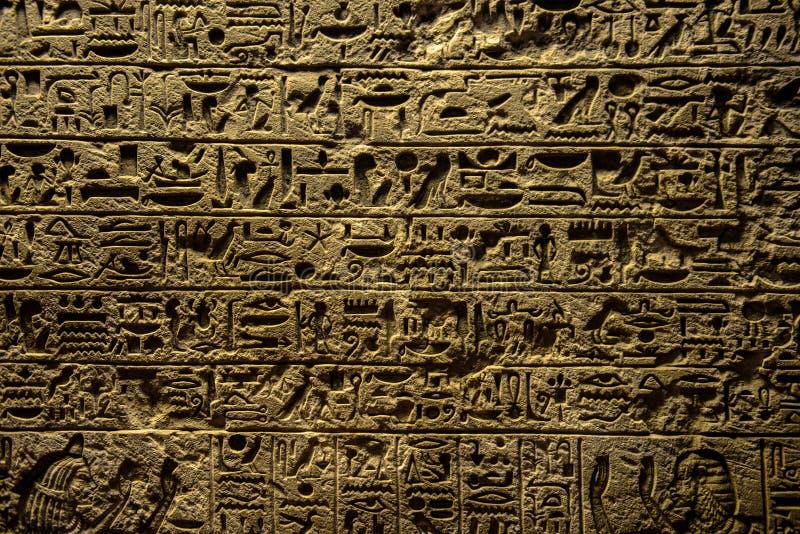 De oude hiërogliefen van Egypte royalty-vrije stock foto's