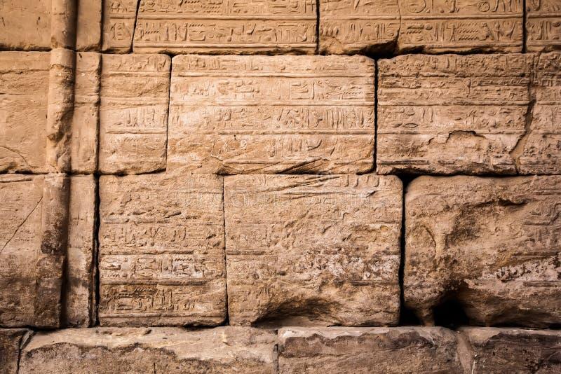De oude hiërogliefen van Egypte royalty-vrije stock fotografie