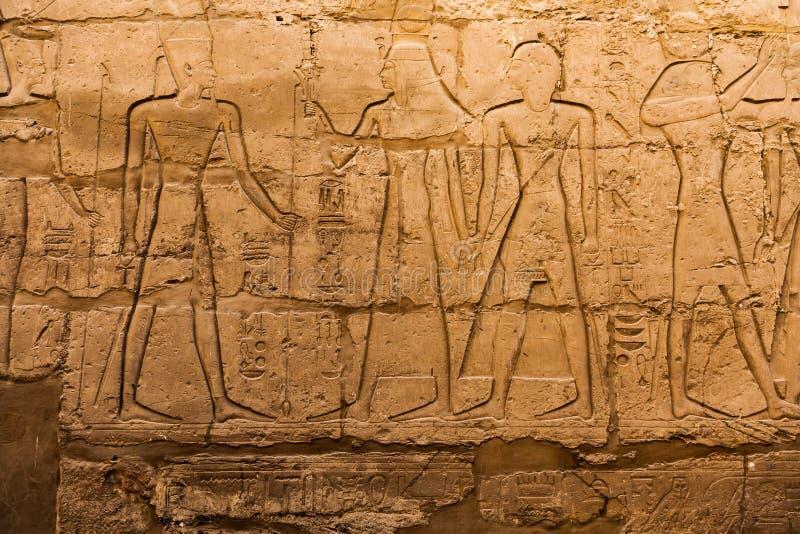 De oude hiërogliefen van Egypte stock foto