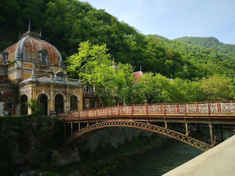 De oude historische barokke bouw - Keizeraustiacbaden Herculane royalty-vrije stock foto