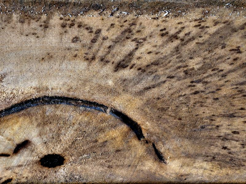 De oude Houten Textuur van de Barsten van de Korrel royalty-vrije stock afbeeldingen