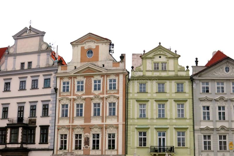 De oude Huizen van Stadspraag stock fotografie