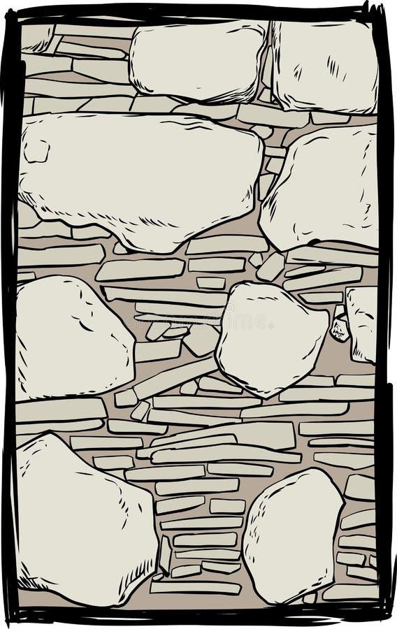 De oude illustratie van de steenmuur vector illustratie