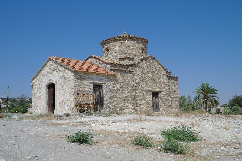 De oude kerk in Lefkara.Cyprus. stock foto's