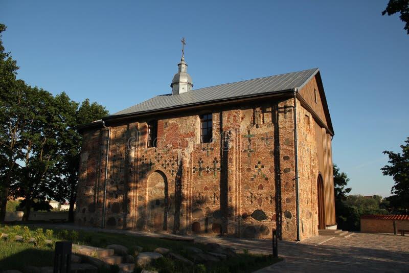 De oude Kerk van de 12de eeuw in Wit-Rusland stock fotografie