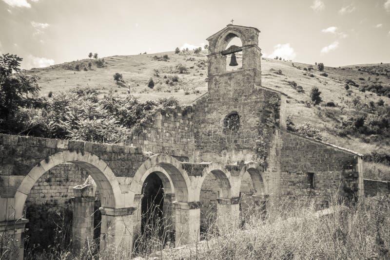 De oude kerk van Santa Maria di Cartignano stock fotografie