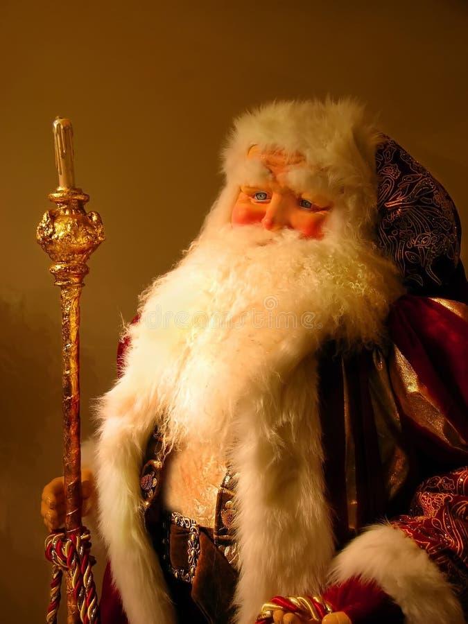 De Oude Kleur Van De Kerstman Van De Wereld Royalty-vrije Stock Foto's