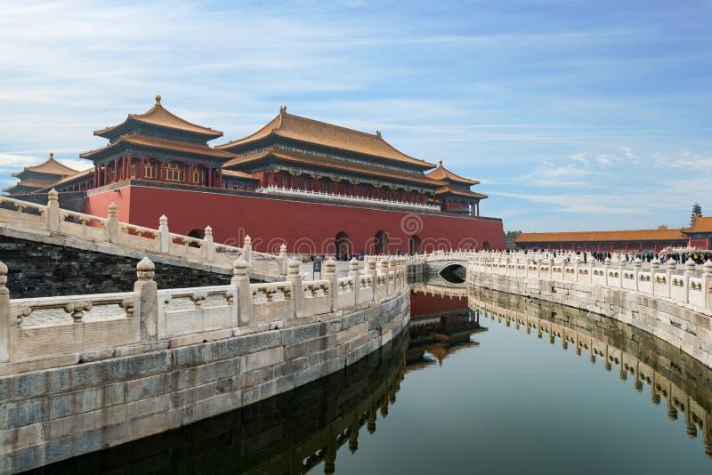 De oude koninklijke paleizen van Peking van de Verboden Stad in Peking, stock afbeelding